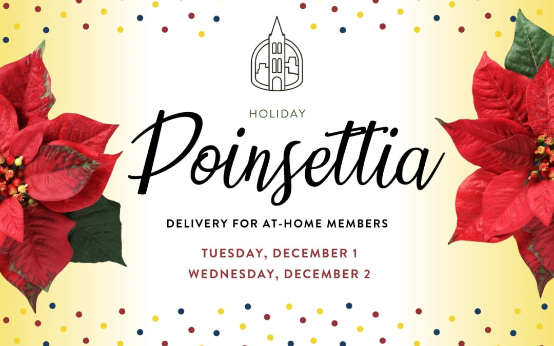 Poinsettia Delivery for At-Home Members